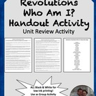 Absolutism to Revolutions Who Am I? Worksheet World History