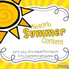 Absorb Summer Content: Homework for Kindergarten Graduates