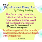 Abstract Nouns Bingo Vocabulary Development Fun Activity t