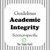 Academic Integrity guidelines (science specific)