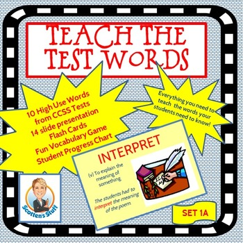 Academic Language Common Core Words Set 1A