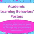 Academic Learning Behaviors Posters &quot;Plus&quot;