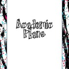 Academic Plans Animal Print Binder Inserts