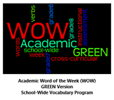 Academic Word of the Week (WOW) GREEN Version