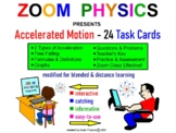 Accelerated Motion Task Cards & Answer Key: problems & que
