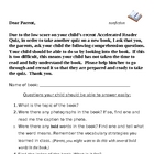 Accelerated Reader Nonfiction Parent Sheet