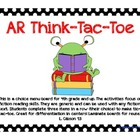 Accelerated Reader Think-Tac-Toe Choice Board (Grades 4-5)