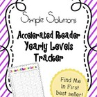 Accelerated Reader Yearly Tracker for 4 nine weeks