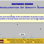 Acceleration of Gravity Game - Mechanics Games & Demos