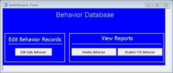 Access - Behavior Tracking Database