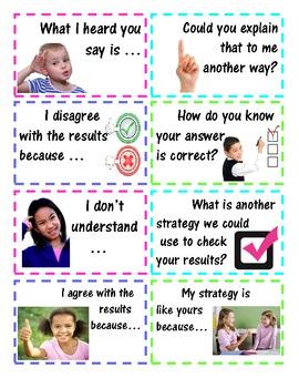 Accountable Math Talk Questions / Conversation Stems - Com