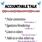 Accountable Talk Anchor Chart  &amp; Reciprocal Cards