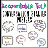 Accountable Talk Conversation Starters: Common Core Speaki