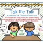Accountable Talk Discussion Task Cards