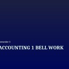 Accounting Bell Work