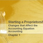 Accounting Chapter 1: Accounting Equation Materials