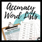 Accuracy Word Pairs: Student Word Lists