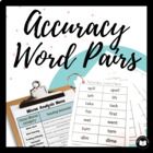 Accuracy Word Pairs: The COMPLETE Assessment &amp; Practice Packet