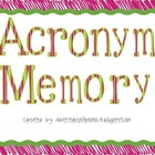 Acronym Memory Game & Activity
