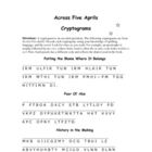 Across Five Aprils: 7 Cryptogram Puzzles--Encoded Quotations!