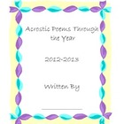 Acrostic Poem Cover Sheet