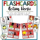 Action Verbs {44 Flashcards & Games} ESL Adults & Grades 4-6