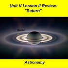 ActivInspire Unit V Lesson II &quot;Saturn&quot; Review