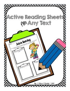Active Reading Sheets for Any Text