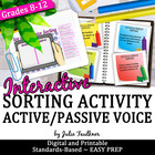 Active Voice and Passive Voice Human Sorts Test Review Game