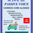 Active and Passive Voice:  Lessons, Tests, and Worksheets