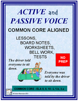 Active and Passive Voice: Common Core Aligned Lessons, Tes