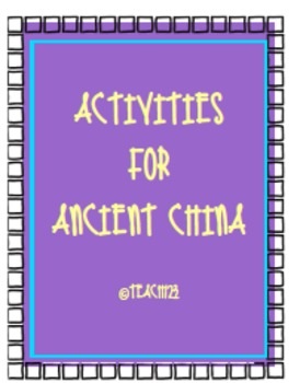 Activities for Ancient China