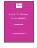 Activities for Building a Robust Vocabulary