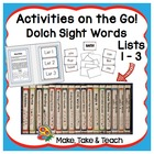 Activities on the Go!- Dolch Sight Words Lists 1-3
