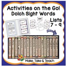 Activities on the Go!- Dolch Sight Words Lists 7-9