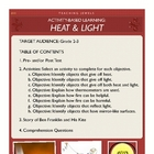 Activity-Based Learning: Heat & Light