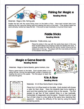 Activity Pack for Magic e