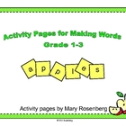 Activity Pages for Making Words Grades 1-3