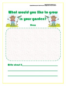 "Activity Sheet based on the book ""My Garden"" by Kevin Henkes"
