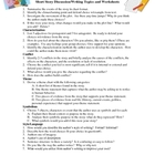 Activity: Short Story Discussion & Writing Topics With Worksheets