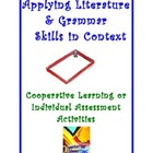 Activity Tasks to Teach Grammar &amp; Literature Elements in Context