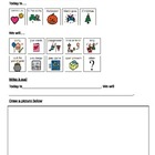 Adapted writing # 3 for students with Autism (picture supports)