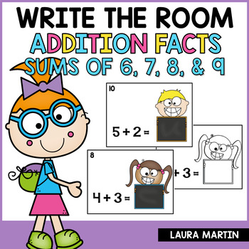 Add Em' Up-Addition Sums 6, 7, 8, 9- Read and Write the Room