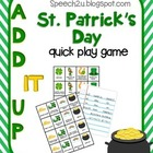 Add IT up: St. Patrick's Day, Open Ended Speech therapy ga