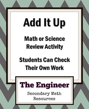 Add It Up - Math or Science Review Activity