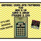 Add It Up Numbers bulletin board