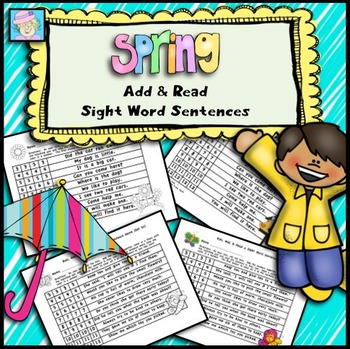 Add & Read Sight Word Sentences for Spring