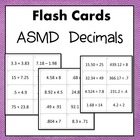 Decimals Flash Cards or Task Cards (Add Subtract Multiply