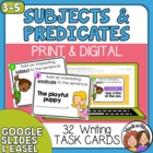 Add a Subject, Add a Predicate Task Cards: 32 Sentence-Wri