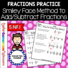 Add/Subtract Fractions with Unlike Denominators (Smiley-Fa